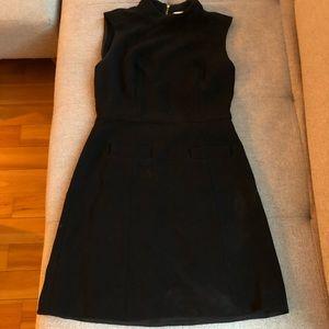 RACHEL ZOE Mock Neck Dress in Black